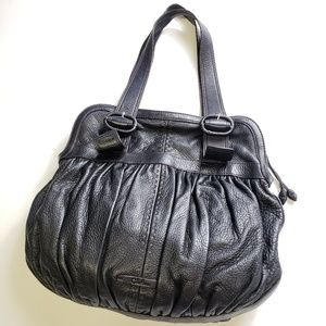 Cole Haan Large Pebble Leather Rouched Bag Purse